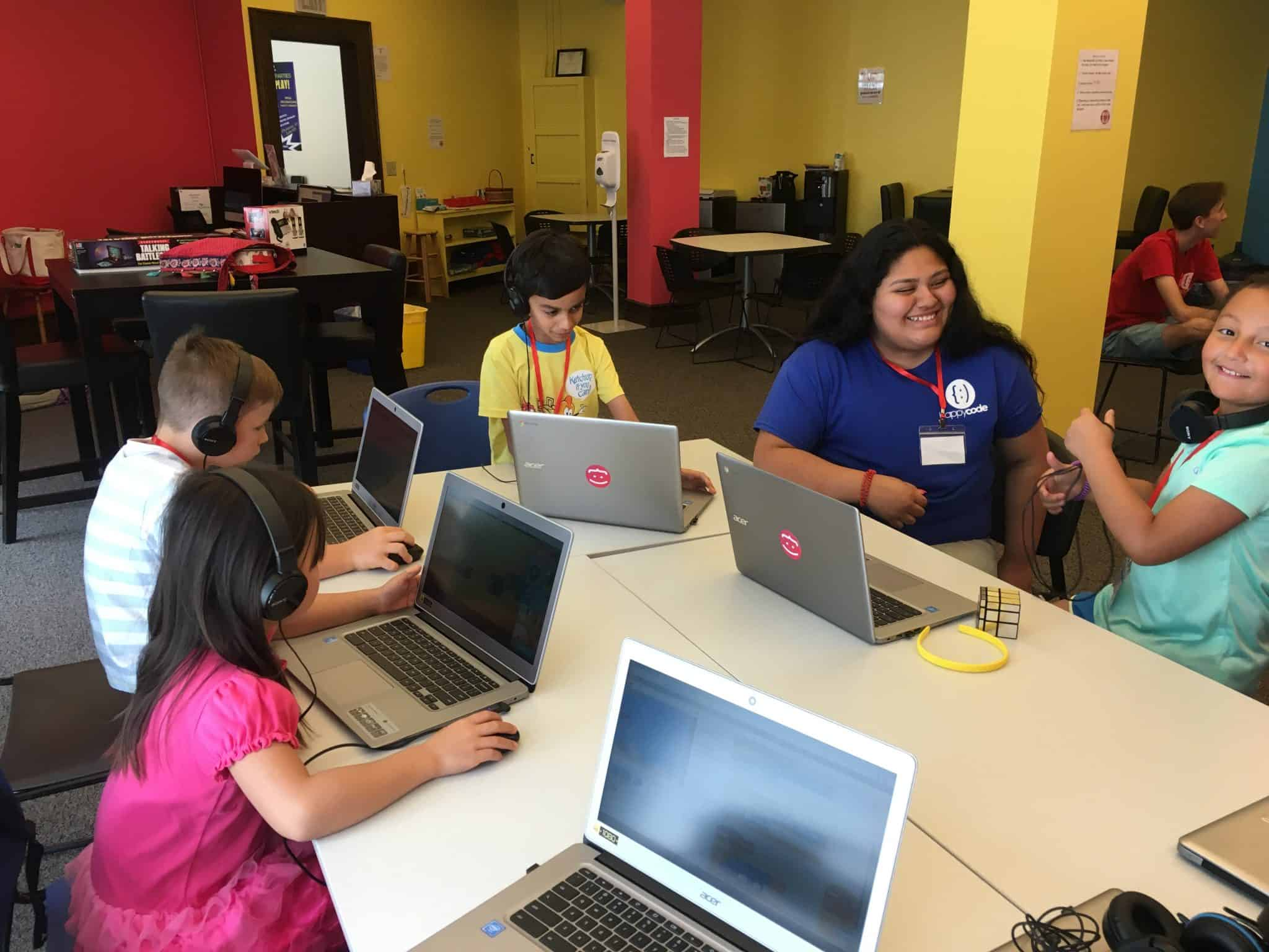 Campers at Happy Code